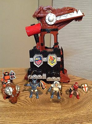 Fisher Price Great Adventures Medieval Dragon Tower, 4 Knights & Battering Ram