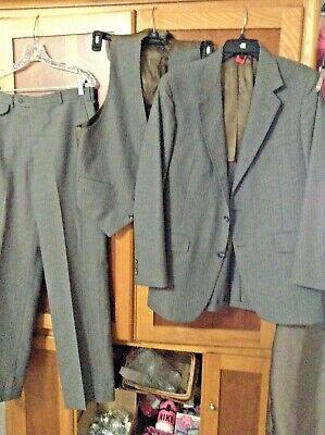 MEN'S SZ 40 R COAT JACKET SUIT PANTS 30 GREAT GATSBY PIN STRIPE CHECK STEAMPUNK - Gatsby Mens Suits