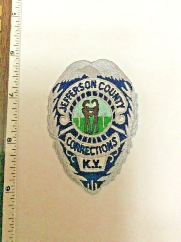 Jefferson County Kentucky Corrections Police Silver Patch New