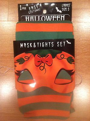 Easy Costume 2 PC Pumpkin Mask & Pumpkin Tights Size S, 5'5
