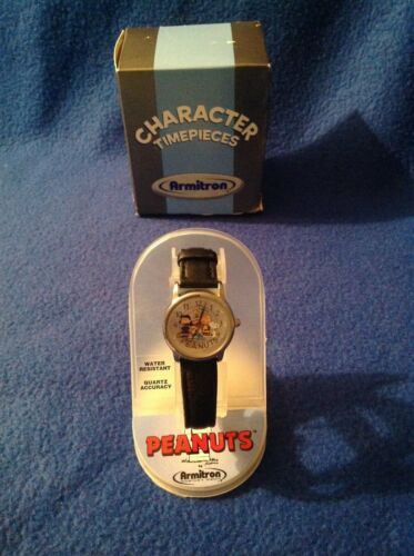 Armitron Peanuts Gang Collectible Wrist Watch in Original Case with Instructions