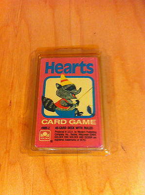 VINTAGE HEARTS Card Game Golden in Plastic Case~NEW *