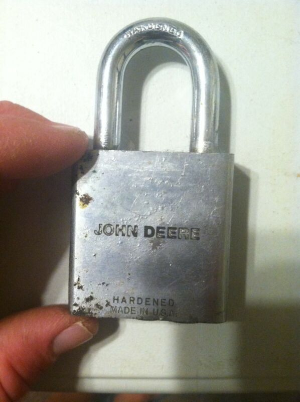 John Deere Padlock Hardened Antique