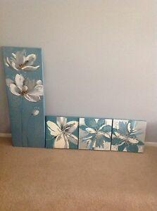 4 Piece Flower Painting Set Carrara Gold Coast City Preview