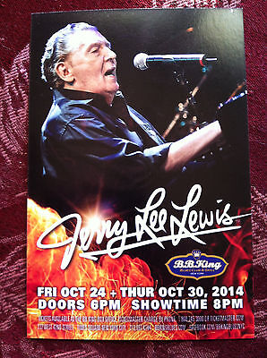 Jerry Lee Lewis and George Benson   ad/flyer B.B. King  NYC 2014