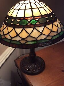 Tiffany lamp with Green glass -Like New * reduced price