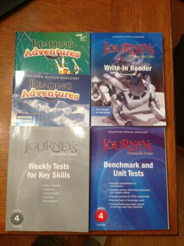 Journeys Grade 4 student consumables lot - Write-in Reader, Benchmark Tests, Wee