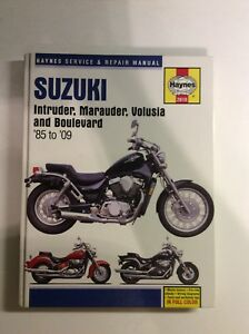 Haynes repair manual. 1985-2009 Suzuki intruder Boulevard