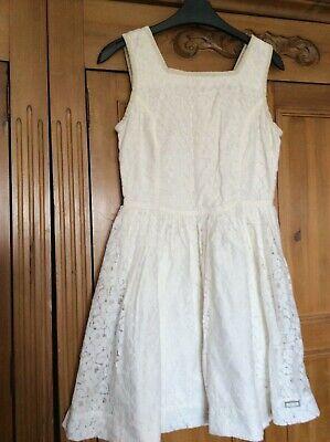 Superdry Cream Lace Dress Size XS UK 8 Very Pretty VGC