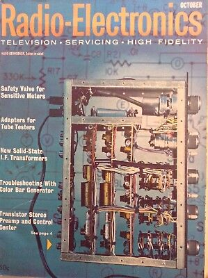 Radio-Electronics Magazine Safety Valve Meters October 1962 102417nonrh for sale  Shipping to India
