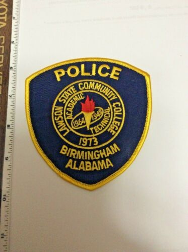 Lawson State Community College Birmingham Alabama Police Shoulder Patch New