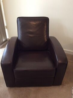 Recliner leather lounge suite for sale Hawthorn Boroondara Area Preview