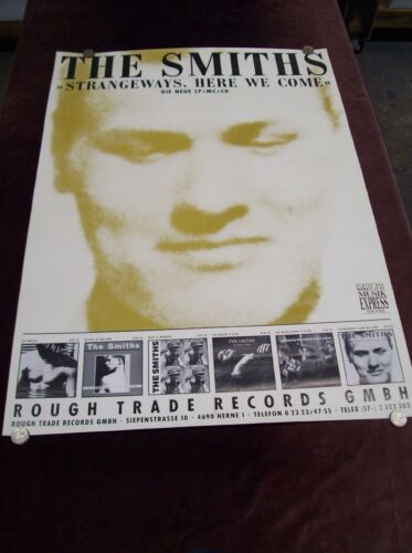 "THE SMITHS ""STRANGEWAYS, HERE WE COME"" PROMO POSTER ROUGH TRADE GERMANY 1987 ETC"