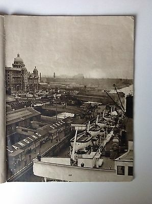 Liverpool, The Landing Stage, Vintage Print c1936, Ships, Shipping, Docks, Boats