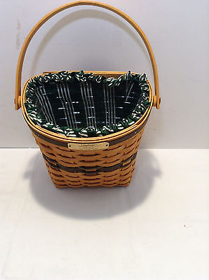 Longaberger Christmas Collection Baskets 1998 Glad Tidings with insert and cloth