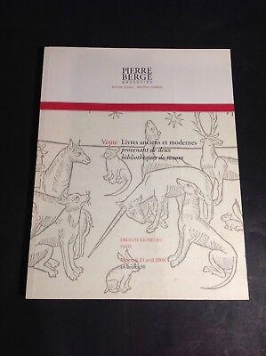 Bergé Pierre - Catalogue - Livres Anciens - 23/04/2008 - B27