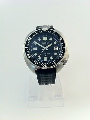 Seiko Automatic Diver 6105-8110 Modded Watch (Rubber Strap)