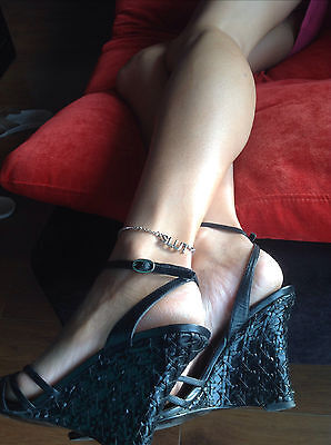 Slut Anklet in Stainless Steel with gift bag included