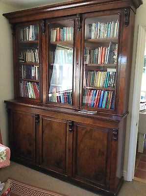 Victorian bookcase mahogany