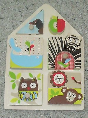 Abc Zoo Alphabet Puzzle - Skip Hop Alphabet Zoo Match and Play Puzzle Wooden Baby Toddler