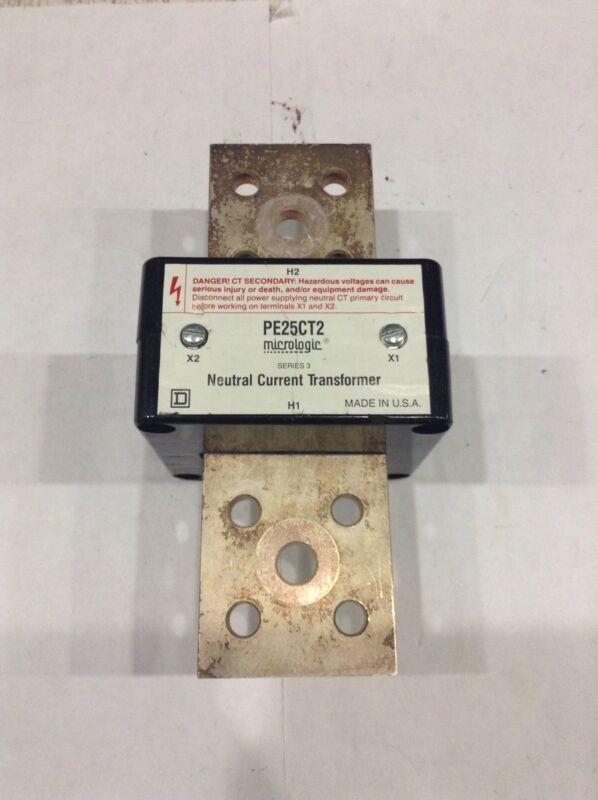 PE25CT2 Square D Micrologic Neutral Current Transformer