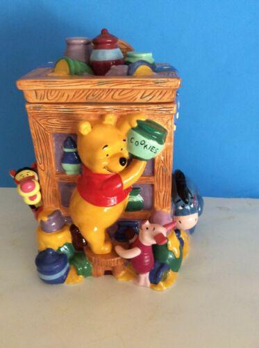 """Disney Winnie The Pooh & Friends Cookie Jar 11"""" Tall 9"""" Wide"""
