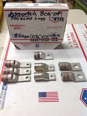 Assortment Of 8 Compression Crimp Lugs 500 Kcmil All Single Hole 7188