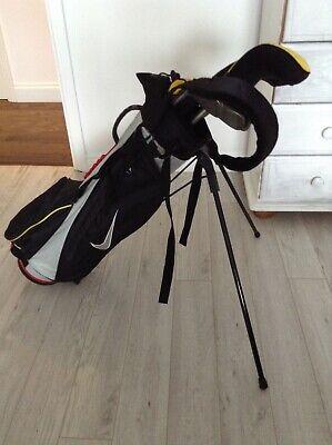 junior golf clubs nike tiger woods half set with bag.