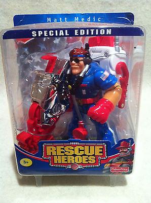 Rescue Heroes Billy Blaze Special Edition Matt Medic Factory Selaed!