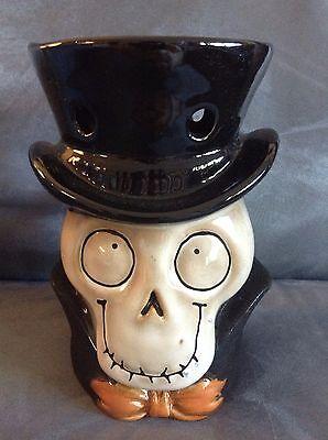 Yankee Candle Tart Burner Halloween (YANKEE CANDLE HALLOWEEN BONEY HEAD TART WARMER BURNER - NEW (SKELETON)