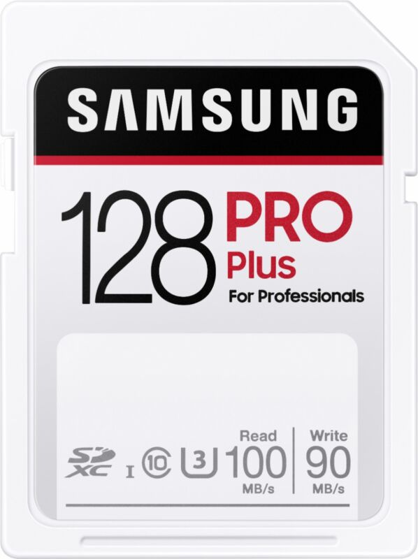 Samsung - PRO Plus SDXC Full size SD Card 128GB