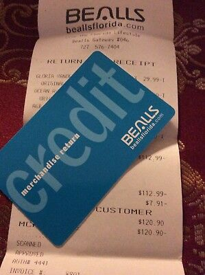 Bealls Credit Or Mechandise Card With Balance  120 90 Does Not Expires