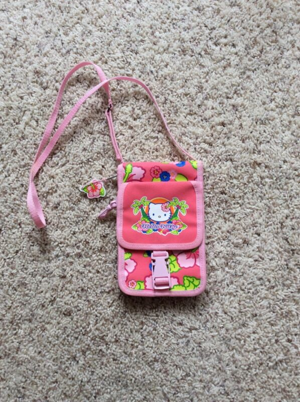 Girls Hello Kitty Tropical Print Crossbody Purse New Without Tags By Sanrio