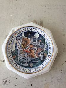 """Royal Doulton Franklin Mint """"Moonlight Blessing"""" Collector Plate New Farm Brisbane North East Preview"""