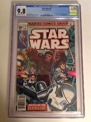 CGC 9.8 Star Wars #3 1977 Off-White to White Pages