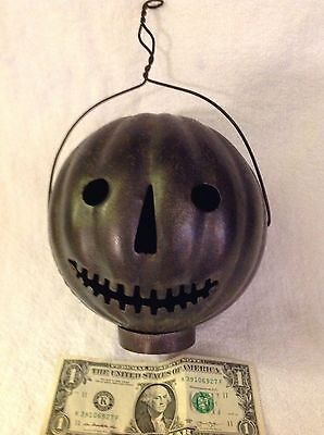 Early 1900's Halloween Jack-O-Lantern Co. Toledo,O. Tin Parade Pumpkin-Nice!