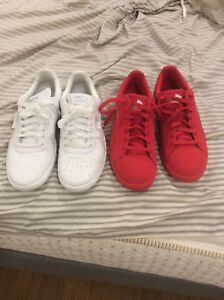 Vnds pumas lifestyle shoes all red all white