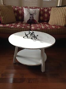 Two tier maple , shabby chic painted coffee table.  Belleville Belleville Area image 1