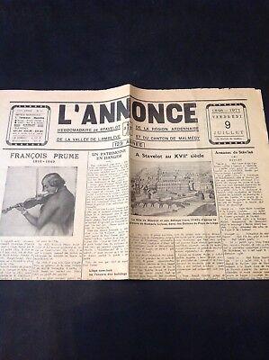 Journal - L'Annonce - 1971 - Stavelot-Malmédy - M9