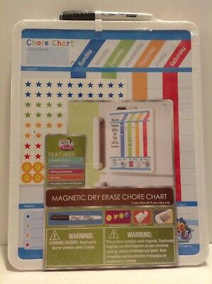 Board Dudes Magnetic Dry Erase Rewards Chore Chart With Marker And Magnets