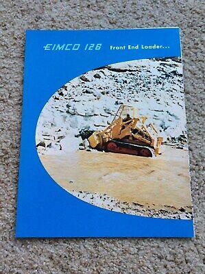 1961 Eimco 126 Front End Loader Original Sales Literature.