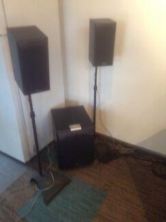 DB Polaris 5.1 surround sound speaker system stands/subwoofer Blackwood Mitcham Area Preview