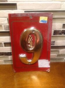 Solid brass address house number