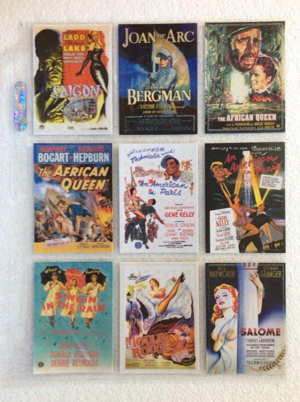 Verzamelingen Breygent Vintage Movie Posters 72 Card Set 2007 The Glitter Set Plus All Chase Niet-sportkaarten