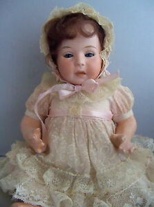 ANTIQUE SWAINE & CO.  DIP BISQUE   CHARACTER BABY DOLL - Precious