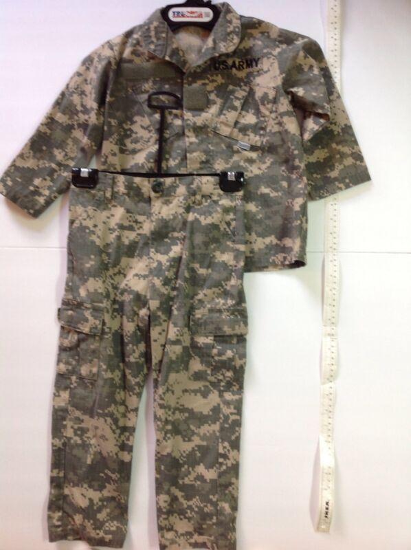 Kids United States Army ACU Camo Trooper Clothing Size XS Uniform Shirt Pants