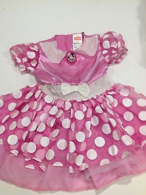 Disney Jr. Minnie Mouse Toddler Girls Halloween Costume Pink Dress 2T
