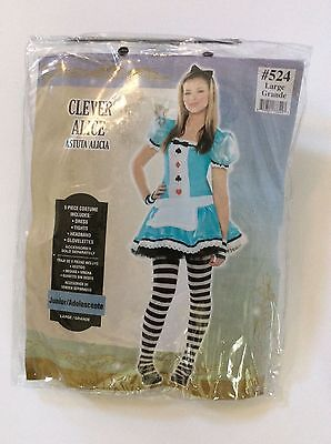 Clever Alice Costume Teen Large Halloween