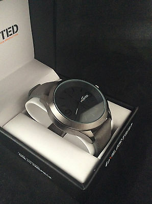 Unlisted Kenneth Cole Men's Analog Perfidious Grey Leather Band Watch UL1265