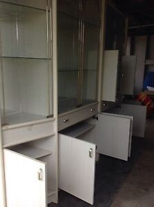 Four piece glass display cabinet Carina Brisbane South East Preview